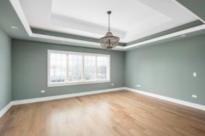 hardwood floors in a bedroom